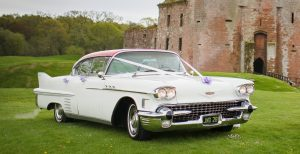 1958 American Wedding Car - Cadillac Sedan in White (Ruby)