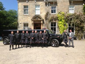 Bride or Groom Wedding Transport - Black Hummer Limo
