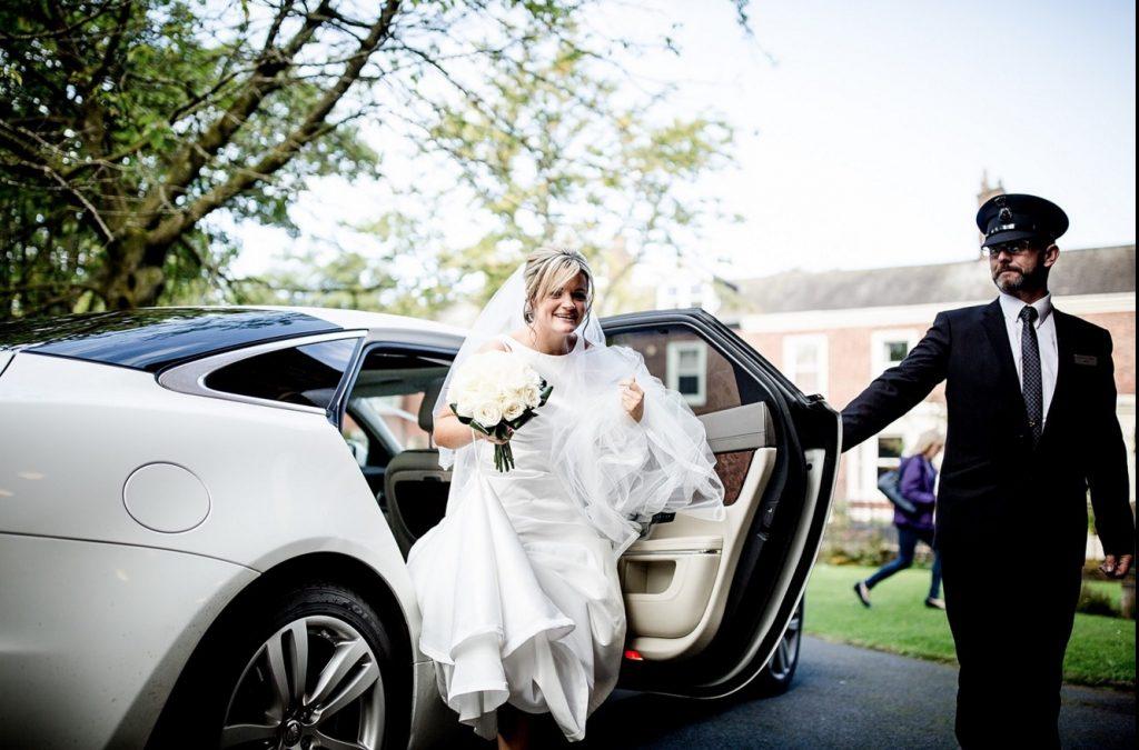 Chauffeur driven wedding transport