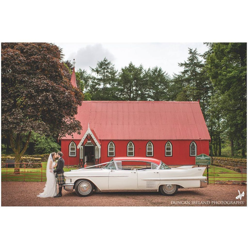 Church wedding at Dalswinton Estate