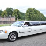 White Lincoln Towncar Limousine - 8 Passenger2 Available
