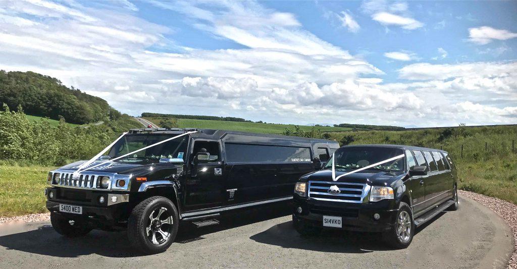 Hummer limo wedding transport