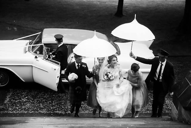 Chauffeur driven wedding cars