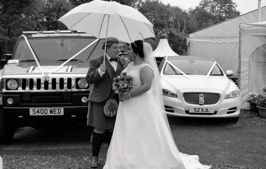Civil ceremony wedding transport