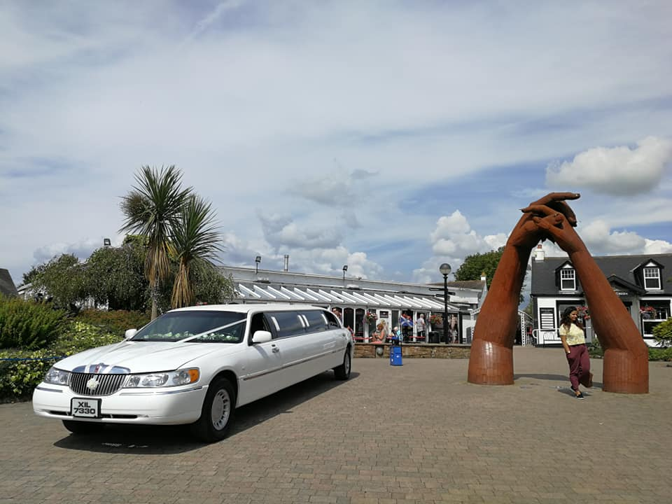 Gretna Green Wedding - White Lincoln Limo