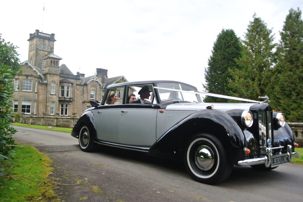 Royale Windsor Wedding Car at Scottish Castle Wedding