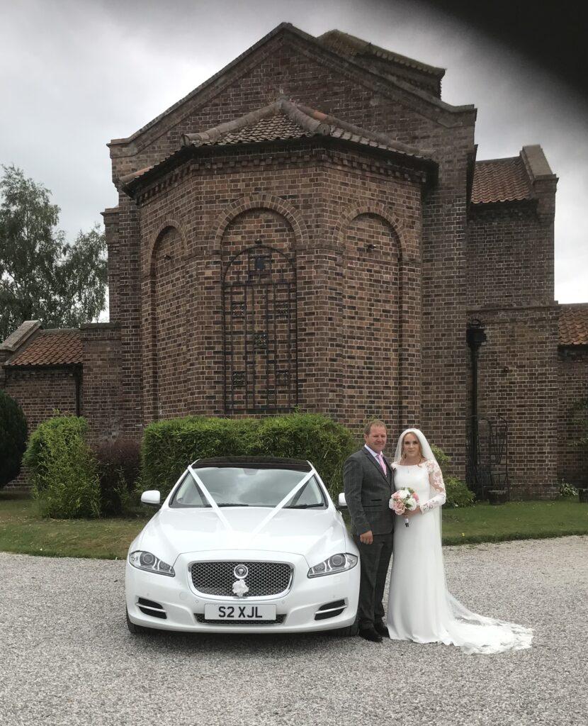 Wedding Car at The Anvil Hall in Gretna Green